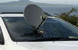 Portable Satellite dish with suction mount
